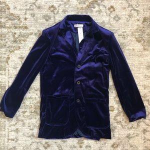 OC Order Plus royal purple velvet velour blazer